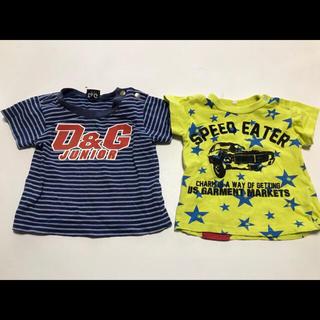 ディーアンドジー(D&G)のD&G と西松屋80cmTシャツ2枚セット★700(Tシャツ)