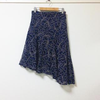 ZARA - ZARA❣️定価1万 フラワーレース ミディ丈スカート