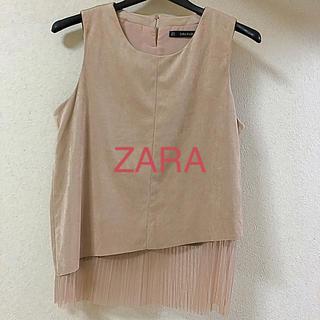 ザラ(ZARA)のZARA BASIC ノースリーブ カットソー(カットソー(半袖/袖なし))