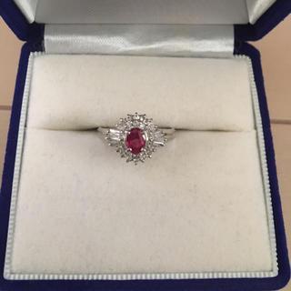 プラチナ900  ルビーダイヤモンドリング(リング(指輪))
