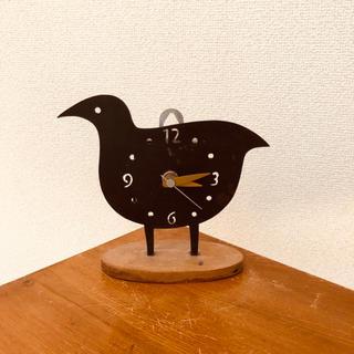 カリモクカグ(カリモク家具)のハトの置時計 アンティーク(置時計)