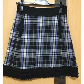 キスミス(Xmiss)のキスミス 台形 チェック スカート(ひざ丈スカート)
