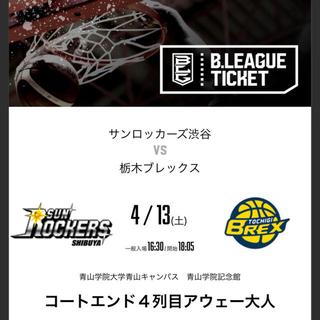 サンロッカーズ渋谷 栃木ブレックス チケット(バスケットボール)
