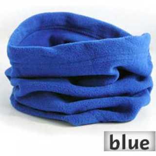 防寒 フリース ネックウォーマー ブルー メンズ レディース スノーボード(ネックウォーマー)