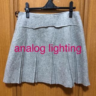 アナログライティング(analog lighting)のanalog lighting  プリーツスカート(ひざ丈スカート)