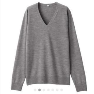MUJI (無印良品) - ウールシルク洗えるVネックセーター