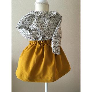ボンポワン(Bonpoint)のフレンチコーディロイのフレアースカート(スカート)