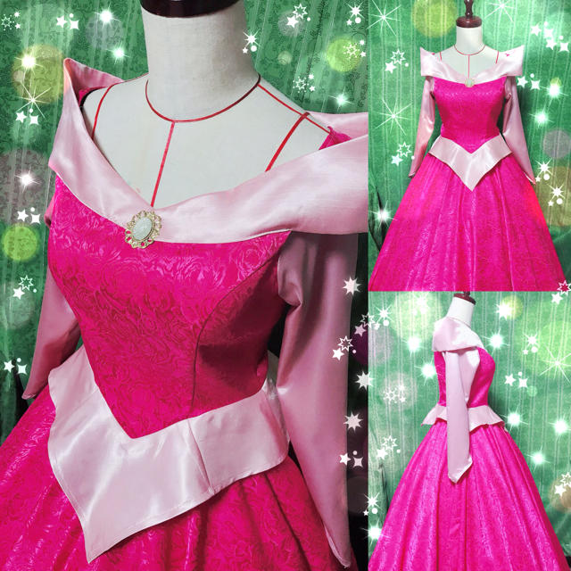 efe59ec97310f オーロラ姫 ピンク ドレス 眠れる森の美女 ディズニー プリンセス 仮装 衣装 エンタメ ホビーの