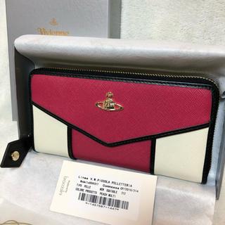 ヴィヴィアンウエストウッド(Vivienne Westwood)のヴィヴィアンウエストウッド 長財布 フルジップ 切替 ピンク 正規品 新品未使用(財布)