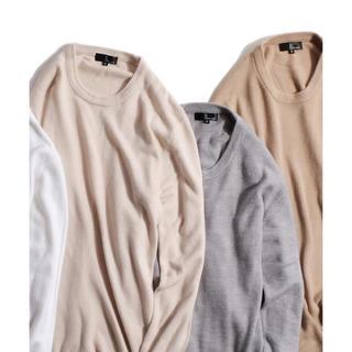 ムジルシリョウヒン(MUJI (無印良品))のZIP FIVE 抗ピリング加工カシミアタッチクルーネックセーター(ニット/セーター)
