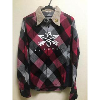 エム(M)のburnout クロスドアローチェックシャツ(シャツ)