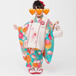 【美品】小町kids  着物セット  七五三  3歳 被布(和服/着物)