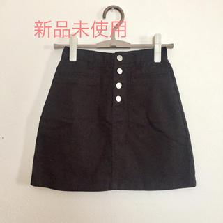 EMSEXCITE - スカート   台形  ブラック   EMSEXCITE    エムズエキサイト