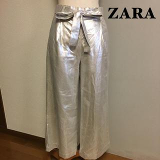 ザラ(ZARA)の【ZARA】ザラ メタリックガウチョパンツ XS(カジュアルパンツ)