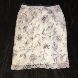 Apuweiser-riche - Apuweiser-riche 花柄レースタイトスカート