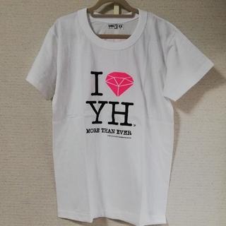 トウホウシンキ(東方神起)の東方神起 ユノ ファンサイトT シャツ 白 S size(アイドルグッズ)