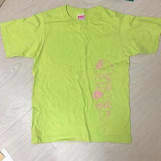 アイロニー(IRONY)の美品 アイロニー Tシャツ ライム グリーン アイスクリーム ロゴ 黄緑 無地(Tシャツ(半袖/袖なし))