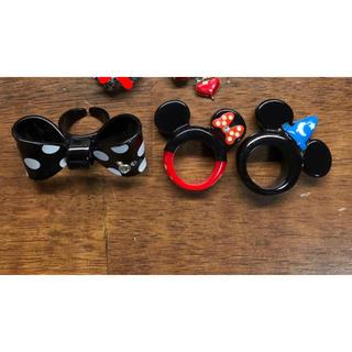 ディズニー(Disney)の美品 ディズニー 指輪 リング アクセサリー ディズニーランド ミッキー ミニー(リング(指輪))