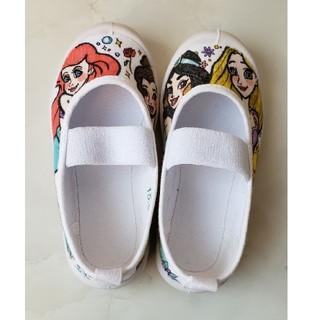 ディズニー(Disney)の上靴き 手書き プリンセス 15(スクールシューズ/上履き)