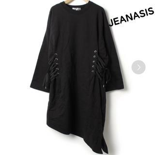 JEANASIS - 【JEANASIS】美品!アシンメトリーレースアップワンピース
