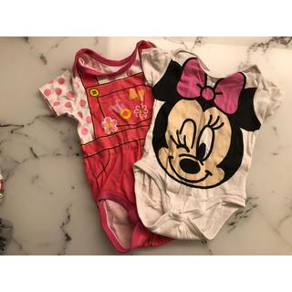 ディズニー(Disney)の子供服 ロンパース 半袖 肌着 80  No.2(肌着/下着)
