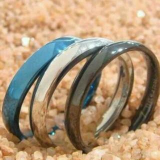 甲丸ステンレスリング 3色から自由に選択(リング(指輪))