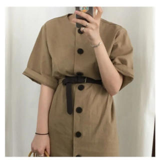 dholic - RETRO sick cotton dress ワンピース レディース 17kg