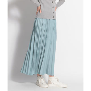 niko and... - カラープリーツロングスカート