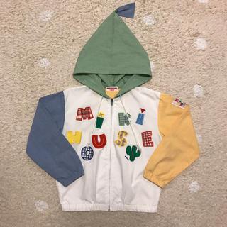 ミキハウス(mikihouse)のミキハウス とんがり帽子 パーカー 130 ロゴ(ジャケット/上着)