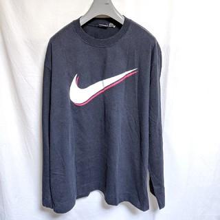 ナイキ(NIKE)の90's銀タグNIKEデカロゴ長袖Tシャツ(Tシャツ/カットソー(七分/長袖))