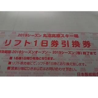 丸沼高原スキー場◎全日利用可能リフト1日券2枚◎送料無料(ウィンタースポーツ)