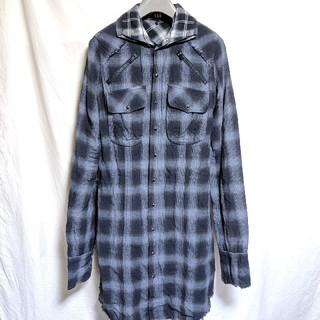 ルグランブルー(LGB)のL.G.B.ルグランブルー チェック柄ロングシャツ(シャツ)