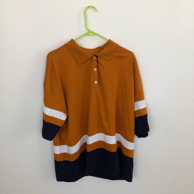DOUBLE NAME(ダブルネーム)のライン ポロシャツ Tシャツ レディースのトップス(Tシャツ(半袖/袖なし))の商品写真