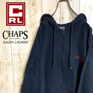 チャップス(CHAPS)の【激レア】チャップス ラルフローレン☆ワンポイントロゴ入り パーカー ネイビー(パーカー)