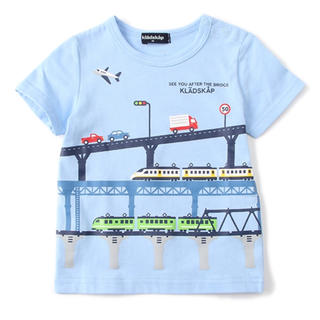 日曜日まで出品  陸橋電車Tシャツ