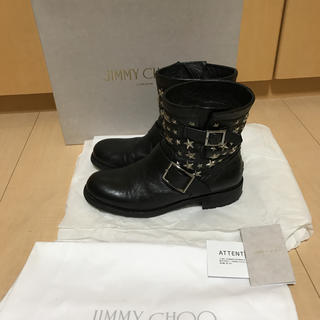 JIMMY CHOO - JIMMYCHOOジミーチュウ★スタースタッズエンジニアバイカーショートブーツ