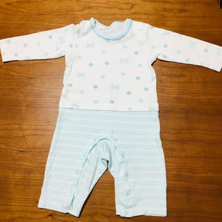 コンビミニ(Combi mini)のカバーオール 長袖 サイズ70〜80(カバーオール)