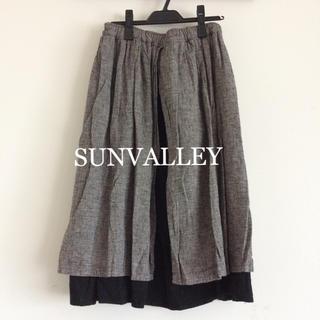サンバレー(SUNVALLEY)のSUNVALLEY  リバーシブル スカート サンバレー(ロングスカート)