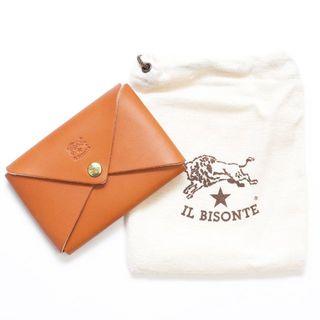 イルビゾンテ(IL BISONTE)の新品 イルビゾンテ カードケース オリガミ 名刺入れ コインケース ヤキヌメ 革(名刺入れ/定期入れ)