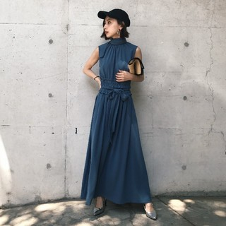 Ameri VINTAGE - アメリヴィンテージ SHIRRING LONG DRESS