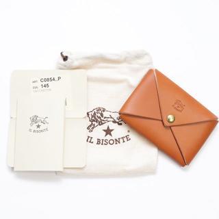 イルビゾンテ(IL BISONTE)の新品 正規品 イルビゾンテ カードケース オリガミ ヤキヌメ 名刺入れ ケース(名刺入れ/定期入れ)