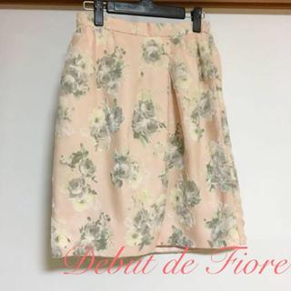 デビュードフィオレ(Debut de Fiore)の花柄 フラワー スカート(ひざ丈スカート)