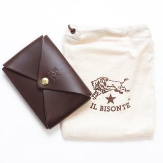 イルビゾンテ(IL BISONTE)の新品 イルビゾンテ カードケース オリガミ 名刺入れ コインケース ブラウン 革(名刺入れ/定期入れ)