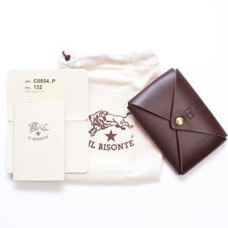 イルビゾンテ(IL BISONTE)の新品 正規品 イルビゾンテ カードケース オリガミ こげ茶 ブラウン 名刺入れ(名刺入れ/定期入れ)