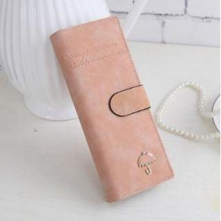 手帳型 スマート カードケース  カードホルダー レディース ( ピンク )(名刺入れ/定期入れ)