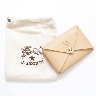 イルビゾンテ(IL BISONTE)の新品 イルビゾンテ カードケース オリガミ 名刺入れ コインケース ヌメ レザー(名刺入れ/定期入れ)