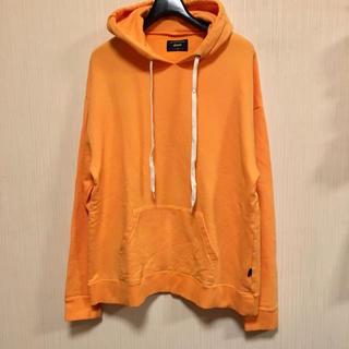グラム(glamb)のglamb グラム Vintage dye hoodie パーカー オレンジ(パーカー)
