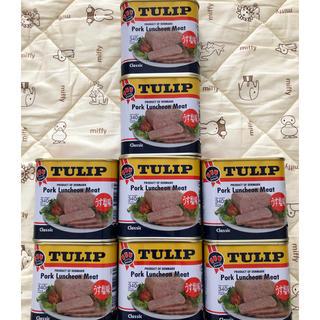☆送料無料☆チューリップポーク8缶うす味塩(缶詰/瓶詰)