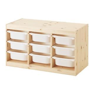 イケア(IKEA)の【新品・送料込】IKEA TROFAST パイン材, ホワイトSx9(収納/チェスト)