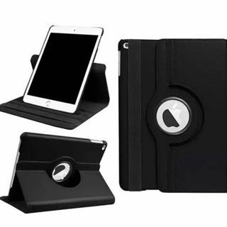 【ブラック】 iPad5 iPad6 360度回転 iPad ケース カバー(iPadケース)